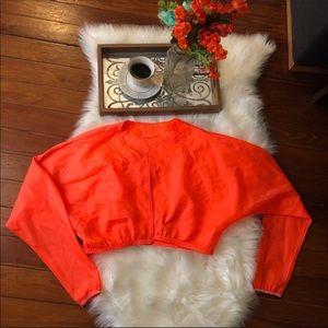 Athleta Jackets & Coats - Athleta Orange neon running convertible jacket m
